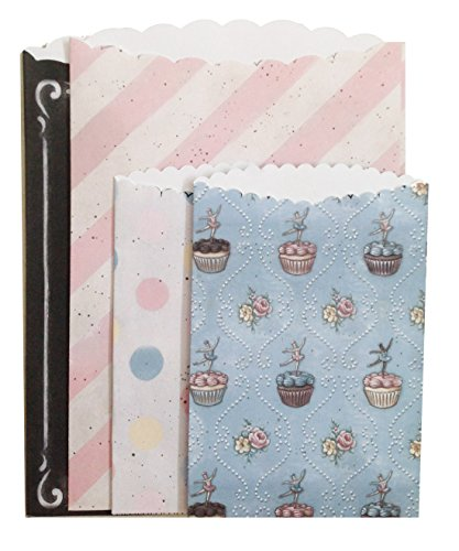 Melissa Frances GNJA004 The Sweet Life Treat Bag, 3.5-Inch x 5.3-Inch/5-Inch x 7.5-Inch, 4-Pack