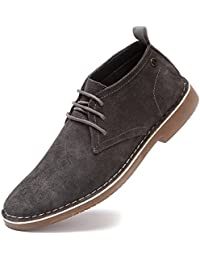 Men's Suede Leather Chukka Boots Lace up Casual Winter Ankle Desert Boots
