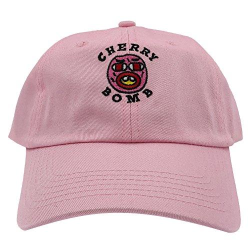 Golf Wang Cherry Bomb Baseball Dad Hat Cap Bastard Snapback Wolf Men Panel (Pink)