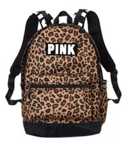 Victorias Secret Pink Campus Backpack- Leopard Print