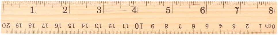 MB-LANHUA 15 cm 20 cm 30 cm r/ègle en Bois Double Face /étudiant /école Bureau Outil de Mesure