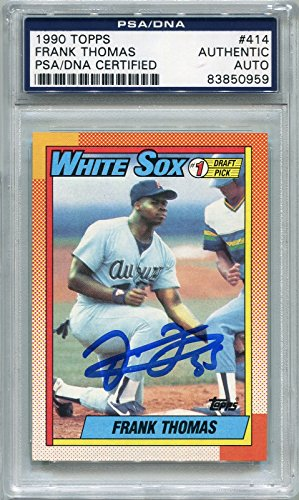 Frank Thomas Rookie Chicago White Sox PSA/DNA Certified Authentic Autograph - 1990 Topps (Autographed Baseball Cards) ()
