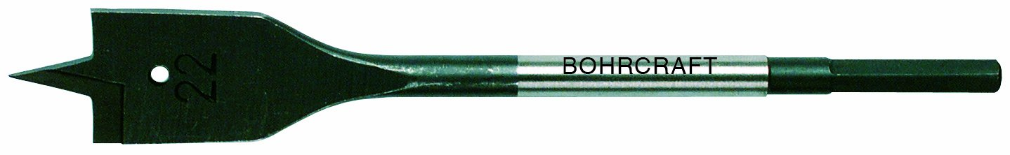 Bohrcraft Flat Wood Drill Bit with 2 Cutting Edges 14 mm Hexagonal Shaft in SB Case, Pack of 1 34100701400 Pack of 134100701400