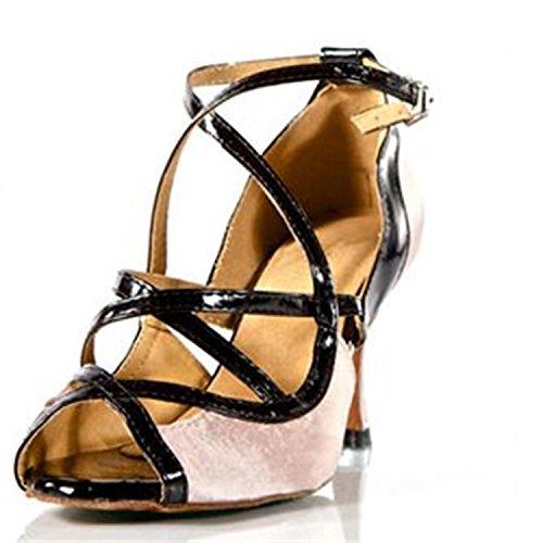 de Baile Adultos Jazz Latino Rosa Sandalias Zapatos Baile Latino Tobillo Zapatos Onecolor Baile de Tira Zapatos Samba Zapatos Cuero Modern de de Verano BYLE de de gPqZ7WScSw