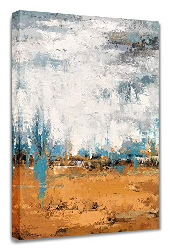 Yihui Arts Absrtact Painting Framed Canvas Prints Color Block Stretched and Framed Canvas Art Ready to Hang for Home…