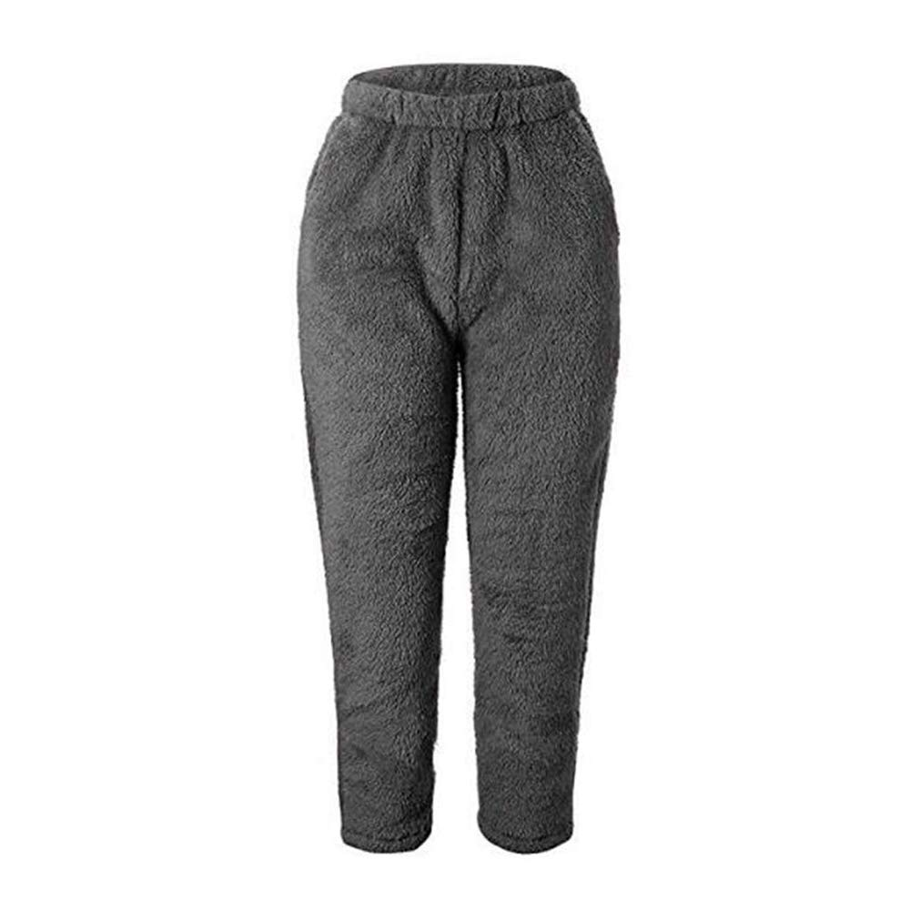 Hibasing Ladies Nightwear Fuzzy Fleece Pajama's Loungewear Fleece PJ Bottoms Sleepwear with Pockets 1