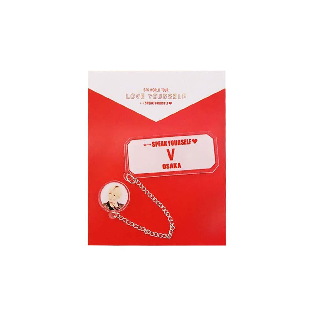 Skisneostype Kpop BTS Badge Love Yourself Speak Yourself Photo de badge cr/éatif pour d/écoration de sac de v/êtements pour enfants et filles H01