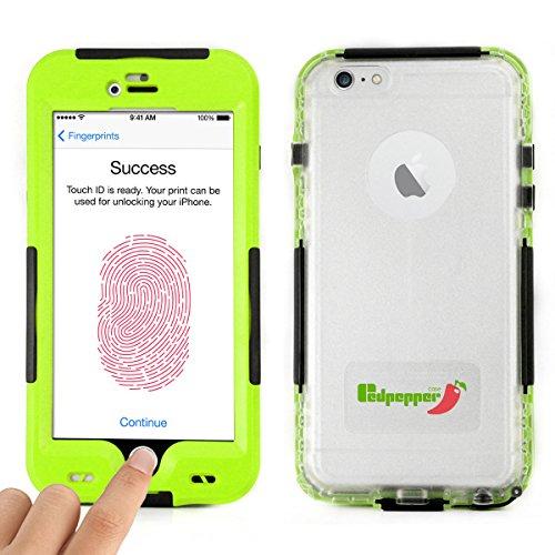 Alienwork Schutzhülle für iPhone 6 Plus/6s Plus geeignet für Fingerabdruck Hülle Case Bumper Wasserdicht Staubdicht Schneedicht Plastik grün AP6P23-03