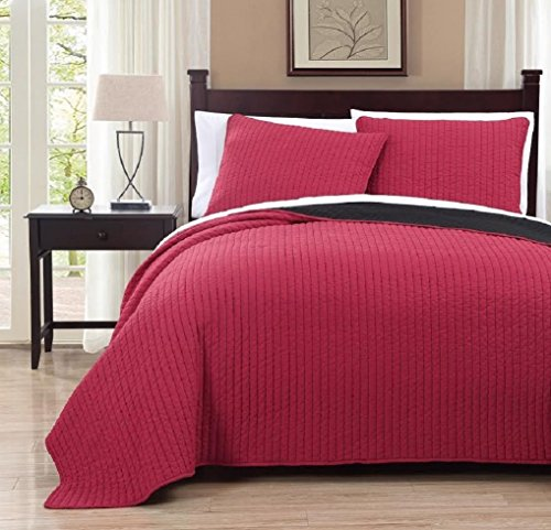 red and black quilt queen - 3