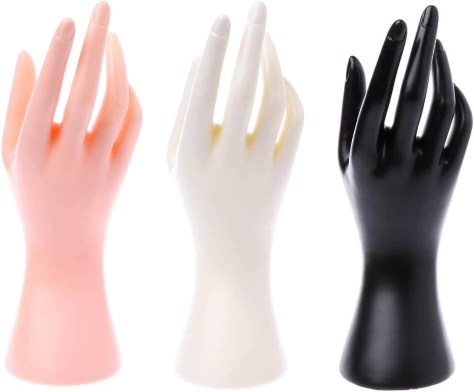Taxiner Mannequin Hand Finger Glove Ring Bracelet Bangle Jewelry Display Stand Holder White