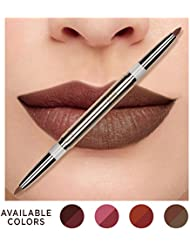 Eve by Eve's Korean Natural Coconut Oil Conditioning Lip Liner Definer with Dual-ended two colors - Oak & Coco Beige