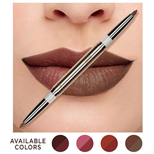 Eve by Eve's Natural Coconut Oil Conditioning Lip Liner Definer with Dual-ended two colors – Oak & Coco Beige