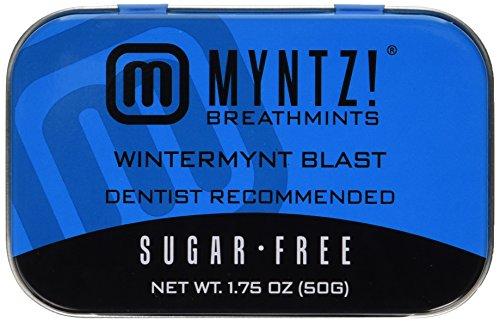 Dentist Recommended MYNTZ! Brand Mints - Wintermynt Blast Wintergreen Flavor 6 tins x 1.75 ounces per tin (Wa Home Vancouver Goods)