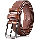 Gallery Seven Mens belt - Genuine Leather Dress Belt - Classic Casual Belt in gift box - Burnt Umber - Size 34 (Waist: 32)