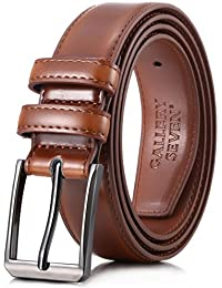Mens belt - Genuine Leather Dress Belt - Classic Casual Belt in Gift Box