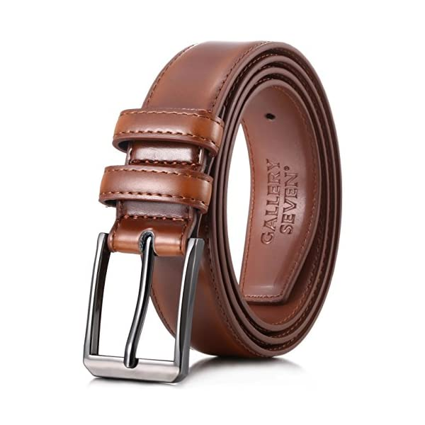 Gallery Seven Mens belt – Genuine Leather Dress Belt – Classic Casual...