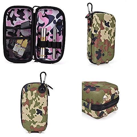 Portable Compact Travel VAPE / E-Cig / MOD Protector Semi-hard Shell Case, Universal Fit (Combat Green) [CASE (Mods Vape Charger)