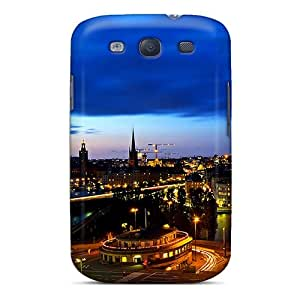 Excellent Galaxy S3 Case Tpu Cover Back Skin Protector City Nightime