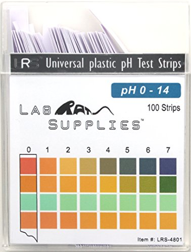 - Plastic pH Test Strips, Universal Application (pH 0-14), 100 Strips