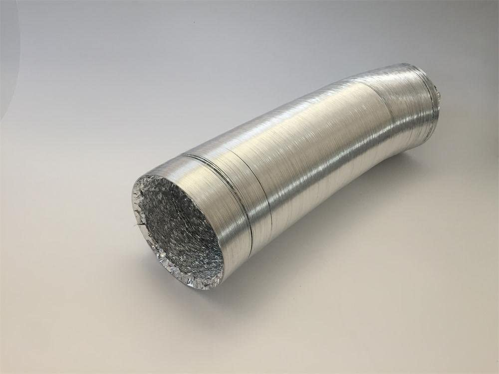 /ø150mm*9.7m Air Duct Flexible Hose Fully Extended Length 9.7m with 2 Hose Clamp Hon/&Guan Double Aluminium Foil Ventilation Ducting