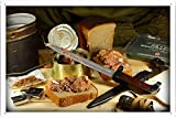 canned tobacco - Canned Food Knife Bread Tobacco Army 45331 Tin Poster by Food & Beverage Decor Sign