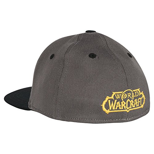 JINX World of Warcraft Iconic Stretch-Fit Baseball Hat, Gray, One Size