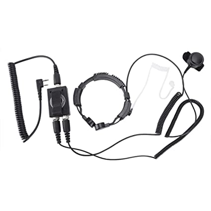 Amazon com: Bewinner Air Tube HAM Radio Earpiece - Finger