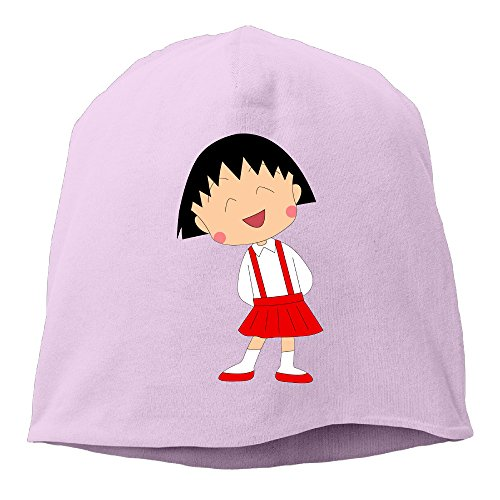 Pink Panther Dance Costume (Caromn Chibi Maruko Girl Beanies Skull Ski Cap Hat Pink)