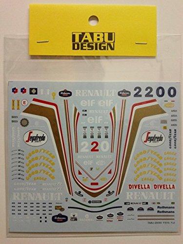 【TABU DESIGN/タブデザイン】1/20 ウィリアムズ FW16 フルスポンサーデカール
