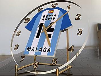 Reloj de sobremesa, diseño de camiseta de fútbol de La Liga española, hombre, FC Malaga: Amazon.es: Deportes y aire libre