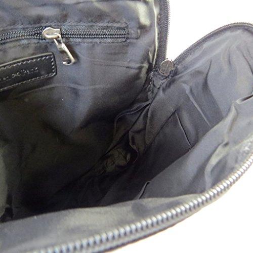 """Eden Park [N7655] - Sac porté-croisé """"Eden Park"""" noir marine - 31. 5x28x4 cm"""
