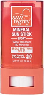 product image for Suntegrity Mineral Sunscreen Sport Stick SPF 30 (Short Expiration 4/30/2021) Use for this ski season   Organic UVA/UVB Broad Spectrum Physical Protection for Body & Face   Water-Resistant (22g)