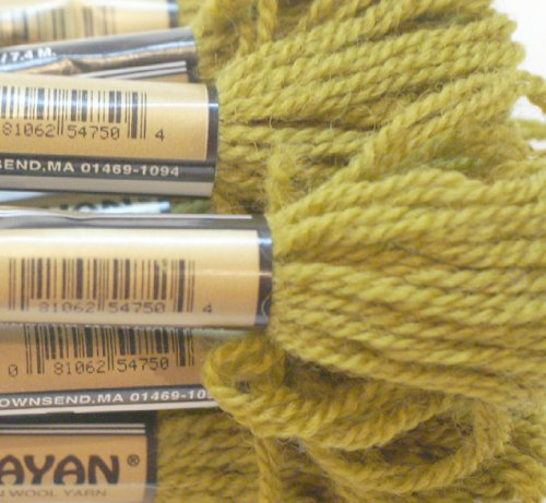 (Paternayan Needlepoint 3-ply Wool Yarn-Color-753-Old Gold-this listing is for 2 mini 8-yd skeins)
