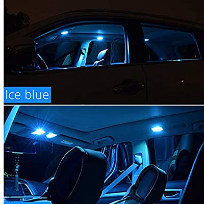 WLJH 10pcs 41mm 42mm Festoon LED Canbus Error Free Bulbs 3W 2835 Chipsets Ice Blue 578 211-2 212-2 LED License Plate Dome Light Bulb for Car-2Yrs Warranty: Automotive