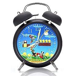 Super Mario Alarm Desk Clock 4 Inches Home or Office Decor W425