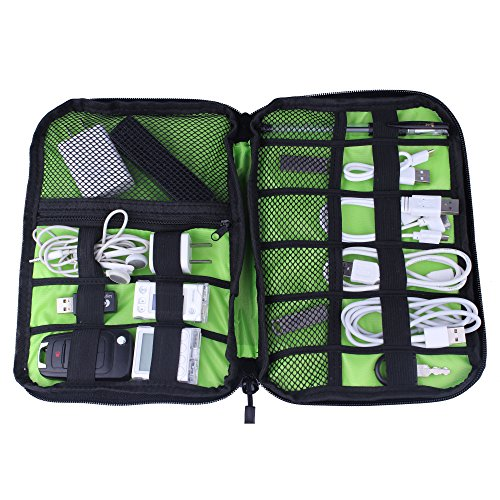 Shopper Joy Travel Electronics Cable Organizer Bag Case for Digital Accessories Devices Gadget Portable Storage Bag for Hard Drives Charger Various USB Adapter Power Bank - Black by Shopper Joy