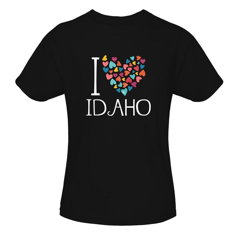 Idakoos I Love Idaho Colorful Hearts - Etats - T-Shirt Fille