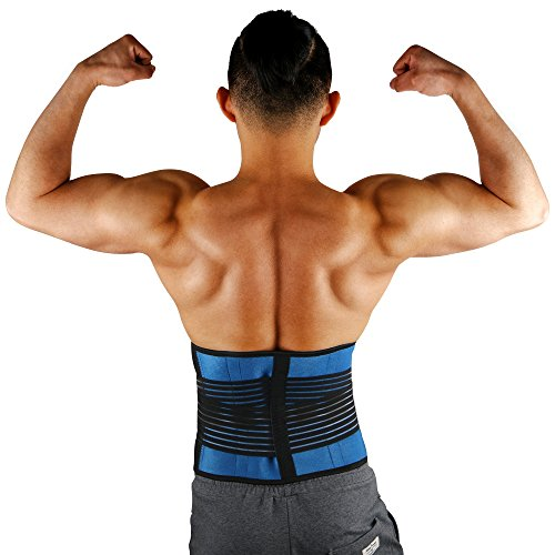 HEIRBLS Back Brace, Lumbar Support Belt Dual Adjustable Straps, Breathable Mesh Panels, Helps Relieve Lower Back Pain, Scoliosis, Herniated Disc, Sciatica for Men and (Dual Adjustable Back Support)
