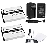 SLB-10A Battery 2-Pack Bundle with Rapid Travel Charger and UltraPro Accessory Kit for Select Samsung Camera Models