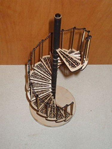 - Melody Jane Dollhouse Spiral Staircase Kit Laser Cut Wood 1:12 Scale Miniature