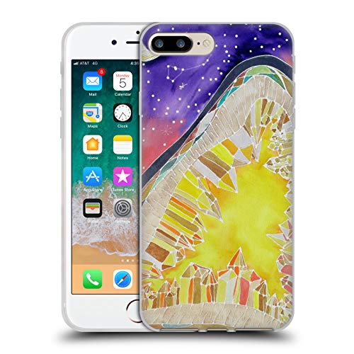 - Official Lauren Moss Citrine and Stars Agates & Crystals Soft Gel Case for iPhone 7 Plus/iPhone 8 Plus