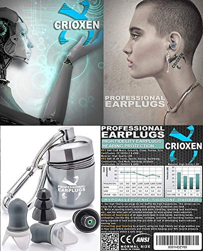 Noise Cancelling Ear Plugs for Sleeping - High Fidelity Silicone Earplugs Musicians' by CRIOXEN (Image #6)
