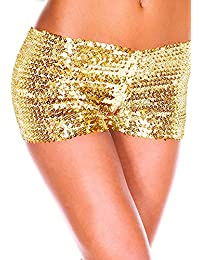 Fashion Queen 9 Colors Women's Shiny Sequin Mini Shorts Sexy Stretch Pants Clubwear