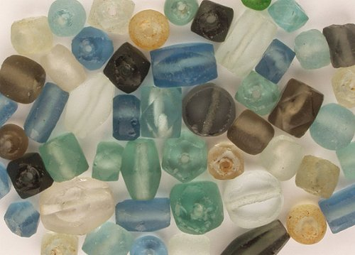 Beads - Recycled Glass - 48+ Pieces, Assorted. Most in Pairs.