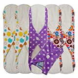 Love My® /Mama/Girl/Maiden/Antibacterial Bamboo fiber/ Menstrual Pads/ Reusable/ Panty Liners - 6pcs pack-(Large size)