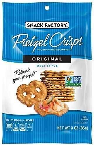 Snack Factory Pretzel Crisps, Original, 3 Ounce (Pack of 8)