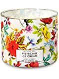 White Barn Bath & Body Works 3 Wick Candle Pistachio Ice Cream