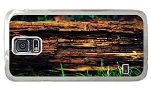 Hipster Samsung Galaxy S5 Case wholesale decayed tree trunk PC Transparent for Samsung S5