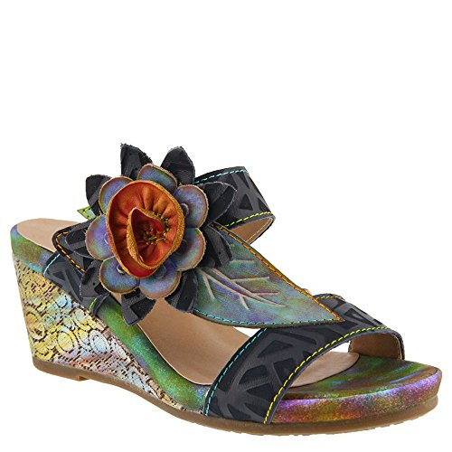 - L'Artiste by Spring Step Women's Style Shayla Navy EURO Size 40 Leather Sandal