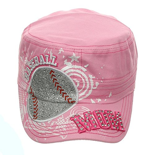 Embroidery Soccer 1 (Women's Baseball Mom Embroidery Bling Cadet Hat Cap One Size)